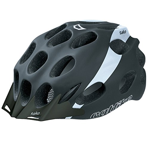 CATLIKE Tako Bike Helmet with Visor, Black/White, Large