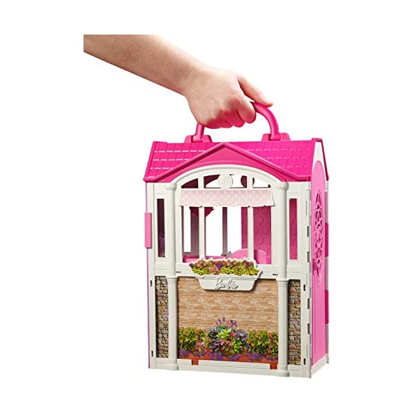Barbie- Casa Vacanze Glam, Richiudibile, con Cucina, Camera da