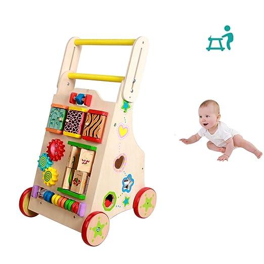 HBIAO Andador de Actividades de Madera, caminador de bebé con ...