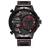CURREN 8262 Men's Business Quartz Watch Multiple time zones Auto Date Top Luxury Brand Fashion & Casual sports Wrist with box