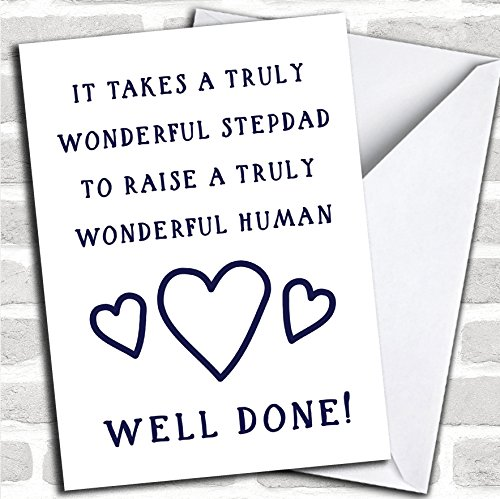 Funny Well Done Stepdad Personalized Father's Day Card -
