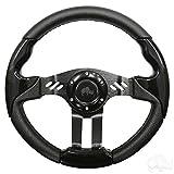 RHOX Aviator 5 Golf Cart Steering Wheel (Black Grip/Black Spokes)