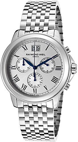 4476-ST-00650 Raymond Weil Tradition Chronograph Mens Watch - Silver Dial