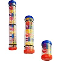 jojofuny 3pcs Baby Rainmaker Mini Toy Rain Stick Rattle Shaker Toddler Rain Sound Handshake Toy Music Sensory Auditory…