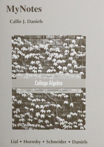 MyNotes for College Algebra