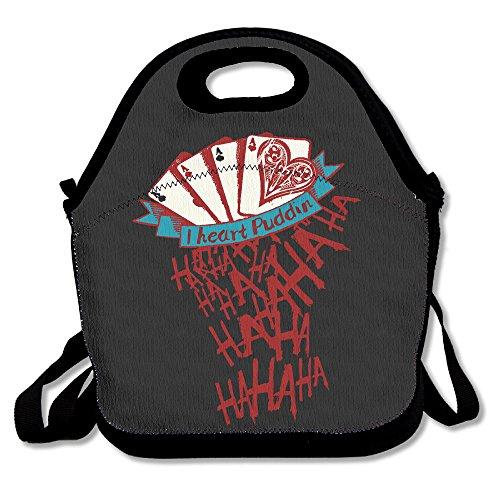 (HJZN SUGER I Love Heart Puddin Ha Ha Ha Tote Bag Multifunction Waterproof Handbag Lunch Tote)