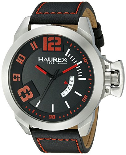 Haurex Italy Men's 6A509URN Storm Analog Display Quartz Black Watch - Haurex Black Watch