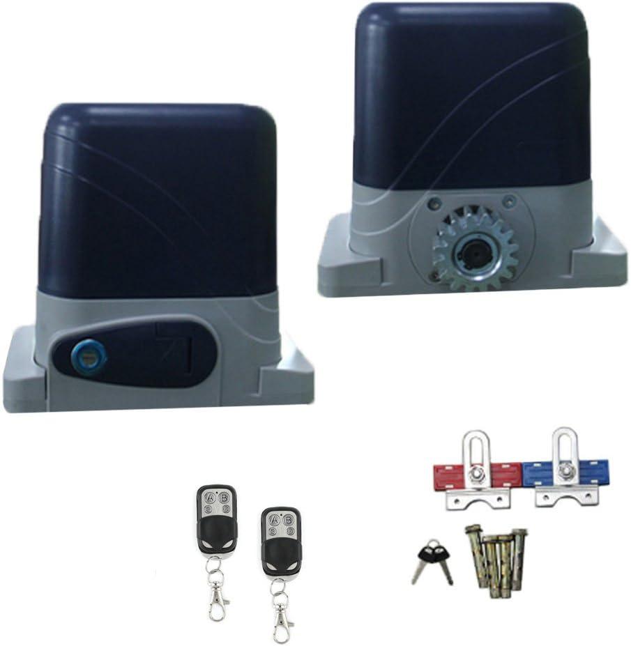 Puerta Corredera de puertas correderas (600 kg, incluye 2 mandos a distancia: Amazon.es: Bricolaje y herramientas