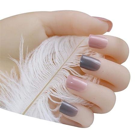 Nail Designs Grey And Pink