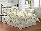 Bombay Dyeing Cardinal 100% Cotton Double Bedsheet with 2 Pillow Covers-Green