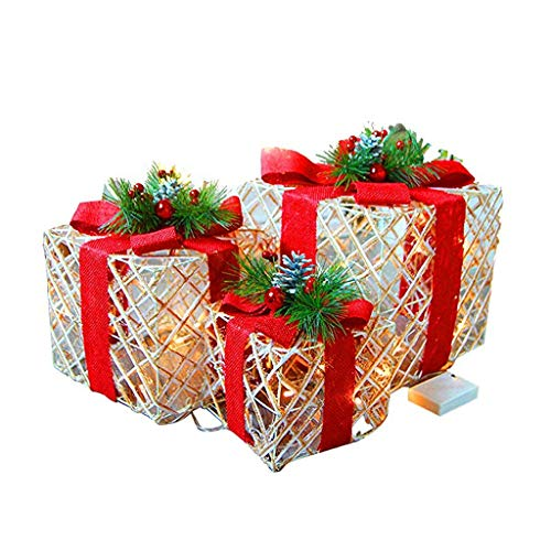 Lighted Christmas Boxes Outdoors in US - 4
