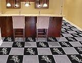 "Fan Mats Chicago White Sox Carpet Tiles,18"" x 18"" Tiles"