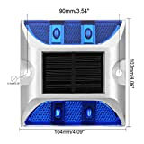 uxcell 2pcs LED Solar Road Stud Light Marker