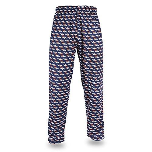 Den Broncos Jersey - NFL Denver Broncos Men's Zubaz Team Logo Print Comfy Jersey Pants, Large, Navy