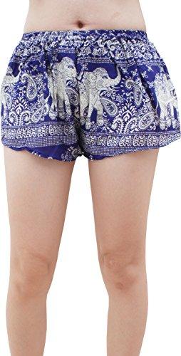 ea74fe166 Raan Pah Muang RaanPahMuang Light Rayon Crop Shorts Printed Short Hot Pants  Soft and Silky