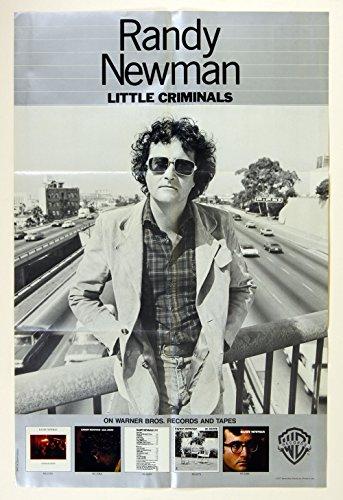 Randy Newman 1977 Little Criminals Album Rare Promo Vintage Poster 23 x -