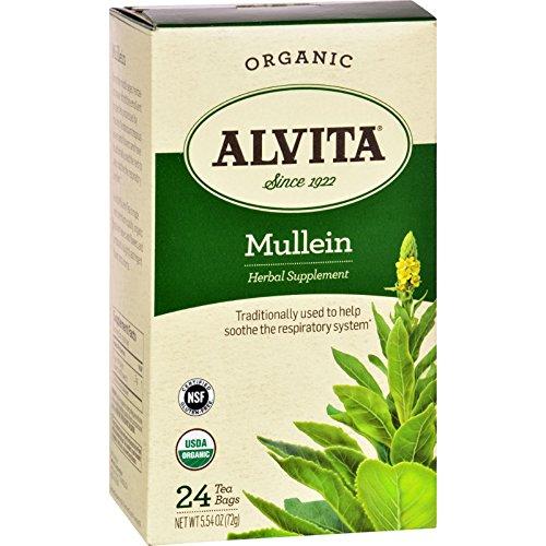 Alvita Organic Tea Herbal Supplement - Mullein Leaf - 24 (Alvita Teas Mullein Leaf Tea)