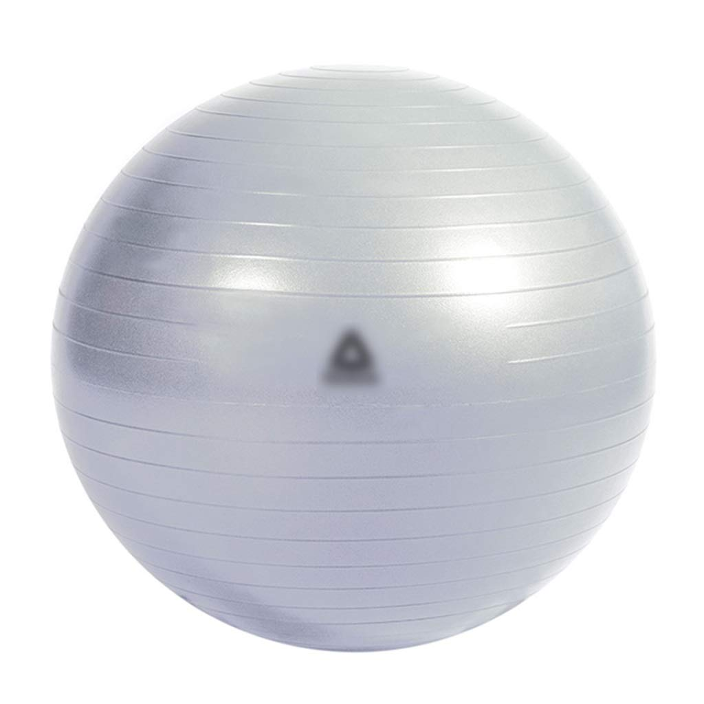 Sports Fitness Fitness Yoga Ball Rhythm Ball Fitness Ball Anti-Skid Road Balance Ball Rehabilitation Training Ball Outdoor Play Ball (Load: 500kg) Exercise Ball Chairs (Color : Silver, Size : 75cm)