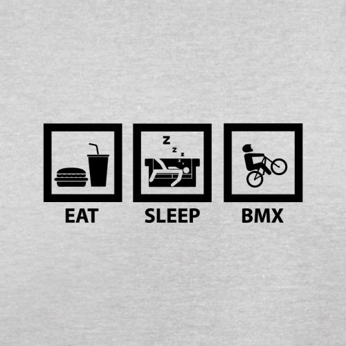 Eat Sleep BMX - Herren T-Shirt - Hellgrau - L
