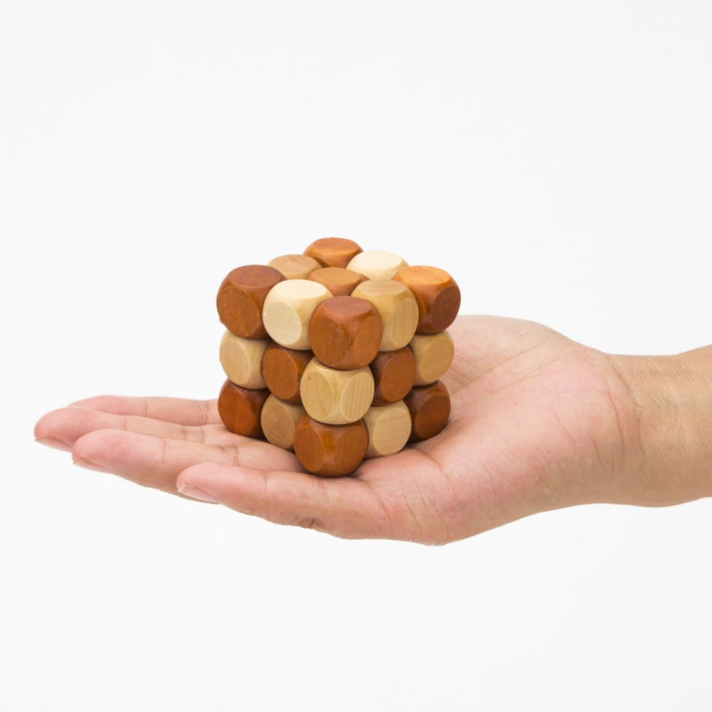 Puzzle games ,Wooden Brain Teaser Puzzle KongMing Lock\