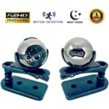 [2018 NEW MODEL] Spy Camera - HD 1080P Video & Audio LED Infrared Night Vision Motion Detection - Portable Hidden Mini Camera for Car, Store, Office and Home Security - Nanny Cam - by Clavis Pro