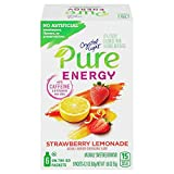 Crystal Light Pure Energy on The Go Drink Mix, Strawberry Lemonade (Pack of 4)