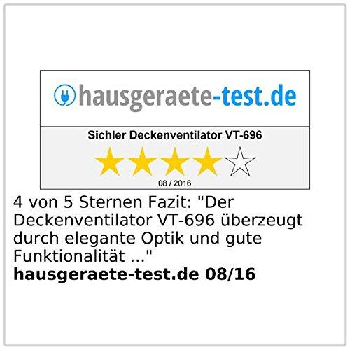 Deckenbeleuchtung mit Ventilator Deckenventilator VT-696 mit Holzfl/ügeln und Beleuchtung /Ø 105 cm Sichler Haushaltsger/äte Ventilator Beleuchtung