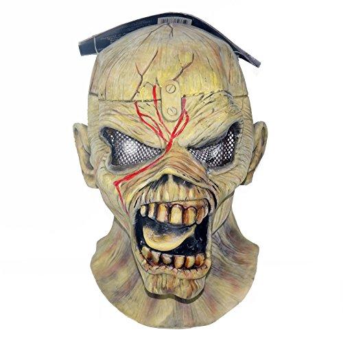 BBCW NECA Iron Maiden Eddie Piece Of Mind Halloween Latex Mask (Iron Maiden Eddie Halloween Costume)
