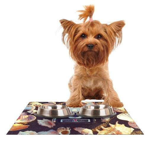 KESS InHouse Libertad Leal The Four Seasons  Summer  Feeding Mat for Pet Bowl, 18 by 13-Inch
