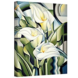Art Wall 'Cubist Lilies' Gallery-wrapped Canvas Art By Catherine Abel, 32 By 24-inch