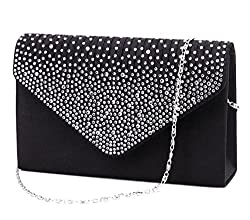 Large Diamante Prom Envelope Bag
