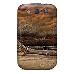 Durable Defender Case For Galaxy S3 Tpu Cover(logs On A Brown Beach Hdr)