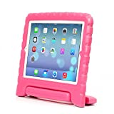 iPad 2/3/4 Case – Travellor® Kids Light Weight Kido Series Convertible Handle Kickstand Kids Friendly Protective Shockproof Cover with Stand & Handle for Apple iPad 2/3/4 (Rose, iPad 2/3/4)