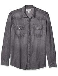 Amazon Essentials Camisa vaquera de manga larga para hombre
