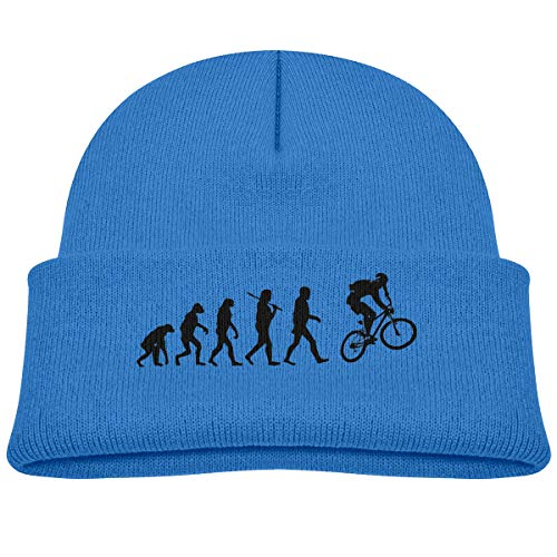(Kids Knitted Beanies Hat Motocross Evolution Winter Hat Knitted Skull Cap for Boys Girls)