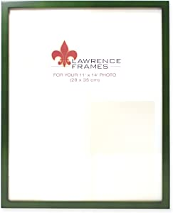 Lawrence Frames Collection Wood Picture Frame Gallery, 11 by 14-Inch, Green