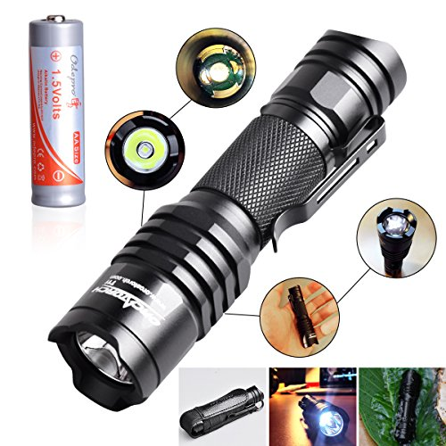 Police-Flashlight-6-Modes-EDC-light-ORCATORCH-T11-Military-Flashlight-Include-1AA-Battery-Waterproof-for-Riding-Camping-Hiking-Hunting-Police