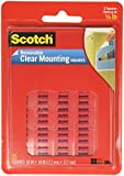 Scotch(R) Removable Wall Mounting Tabs, 11/16in. x 11/16in, Clear, Box of 35