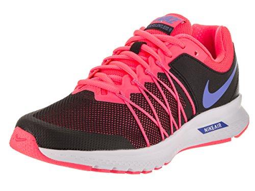 NIKE Women's Air Relentless 6 Black/Medium Blue Hot Punch Running Shoe 6.5 Women (Nike Air Mag Shoes)