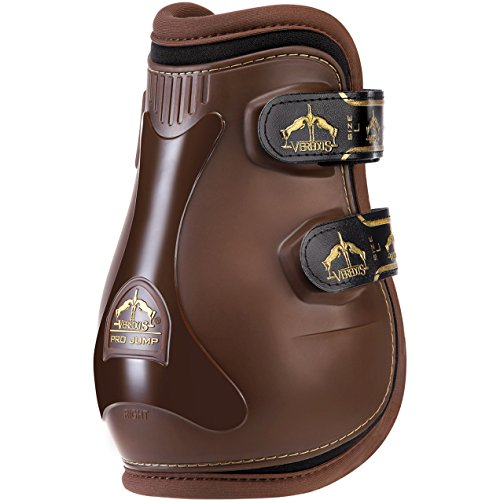 Neoprene Lined Fetlock Boots - Veredus Grand Slam Pro Jump Fetlock Boots Large brown