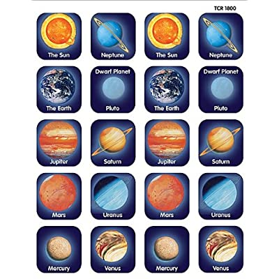 Teacher Created Resources Planets Stickers, Multi Color (TCR-1800): Office Products