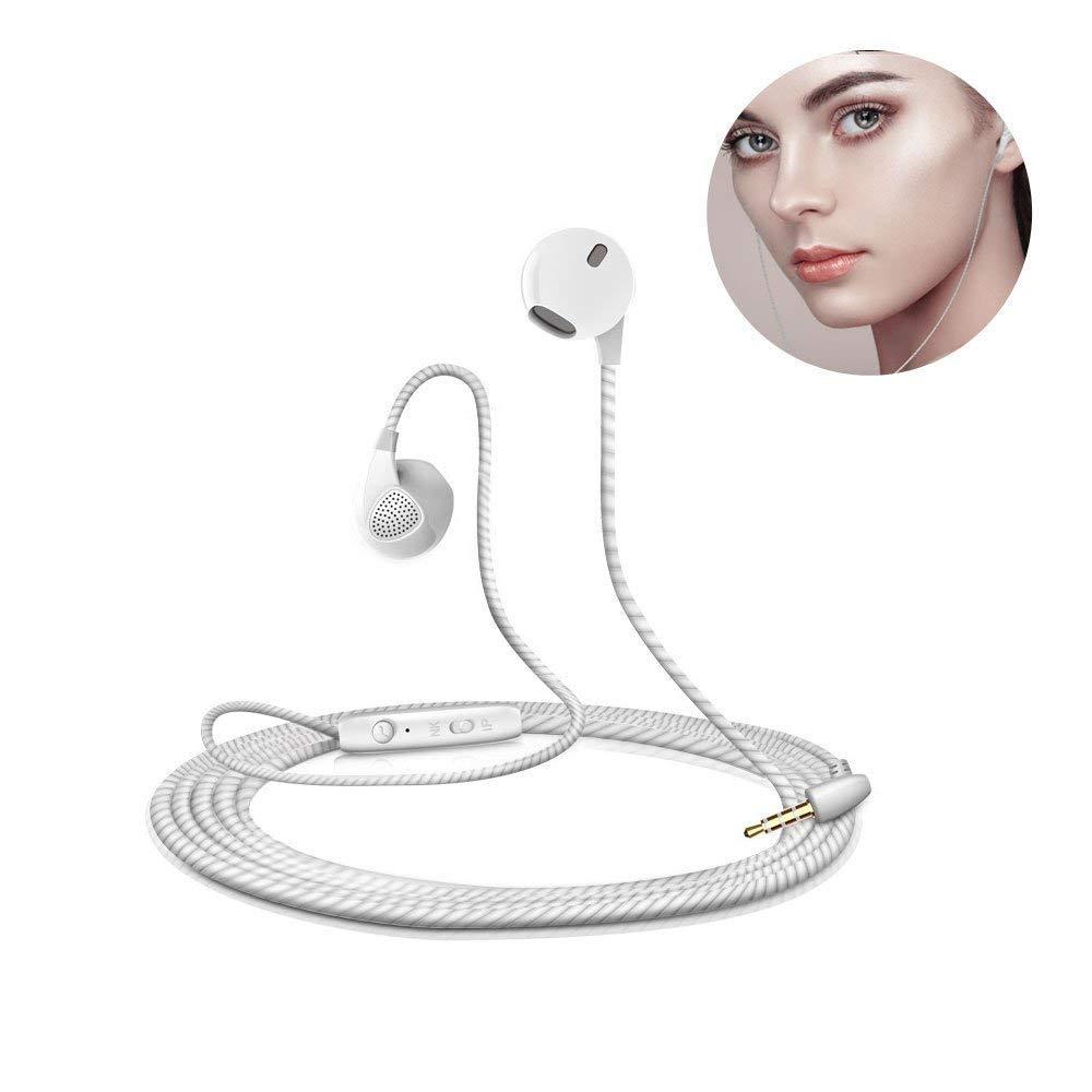 3,5 mm in Ear Kopfhörer Earpods, TopWill S10 Geräuschisolation Headsets Ohrhörer mit Stereo für iPhone iPad iPod Samsung Smartphone Superleicht mit Mic und Fernbedienung (Weiß)