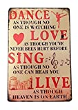 RETRO METAL WALL SIGN TIN PLAQUE VINTAGE SHABBY CHIC INSPIRATIONAL DANCE LOUNGE LIFE by Harrington Marley
