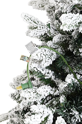 ABUSA Flocked Prelit Artificial Christmas Tree 7.5 ft Snowy Spruce with 700 LED Clear Lights 1452 Branch Tips by ABUSA (Image #8)