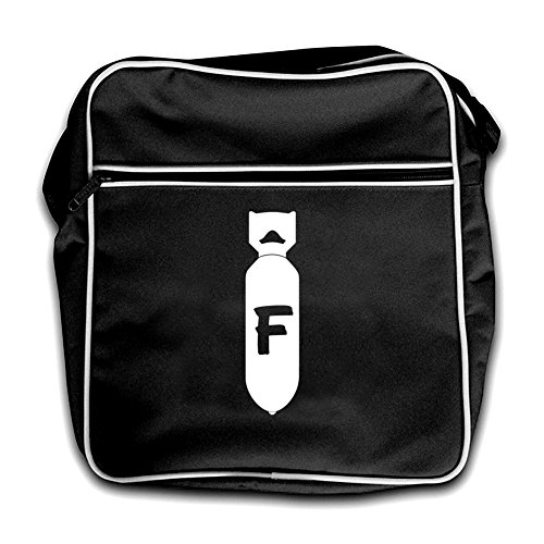 Bag Flight F Bomb black Black Retro PEpEtSqYw