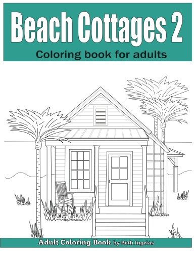 Beach Cottages Adult Coloring Book product image