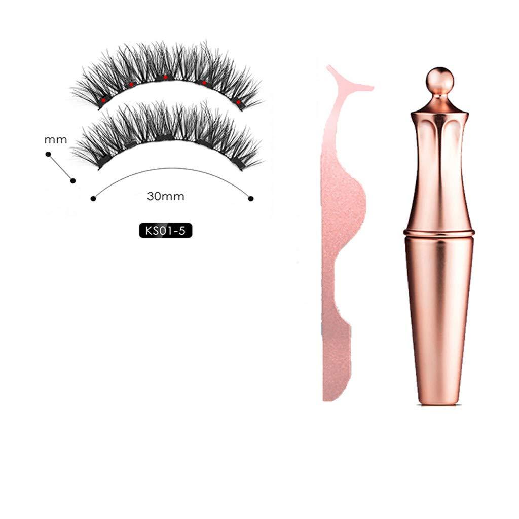 Magnetic liquid Eyeliner with Magnetic False Eyelashes Easy to Wear Lashes Kit Beginer Professional