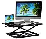 Mount-It! Standing Desk Ergonomic Height Adjustable Sit Stand Desk, 32x22 Inch Preassembled Stand-Up Desk Converter, Holds up to 20 Pounds, Large Surface