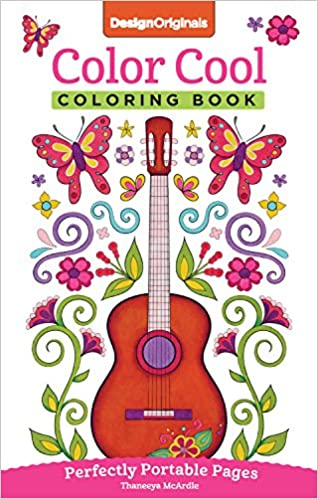 color cool coloring book perfectly portable pages on the go coloring book design originals thaneeya mcardle 9781497201774 amazoncom books