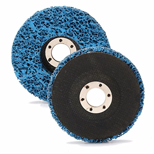 CynKen 5pcs 110mm Polycarbide Abrasive Stripping Disc Wheel Rust And Paint Removal Abrasive Disc by CynKen (Image #2)